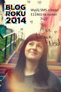 Kulinarny Blog Roku 2014 - zagłosuj na Wegan Nerd