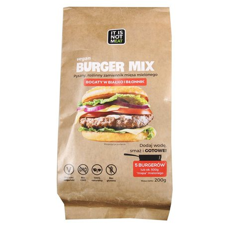 wegański burger mix it is not meat